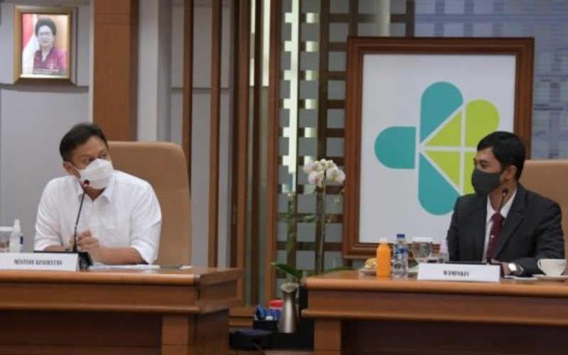 Menteri Kesehatan Budi Gunadi Sadikin dan Wakil Menteri Kesehatan Dante Saksono Harbuwono pada Rakorpim di Kemenkes, Rabu, 23 Desember 2020 / Dok. Kemenkes