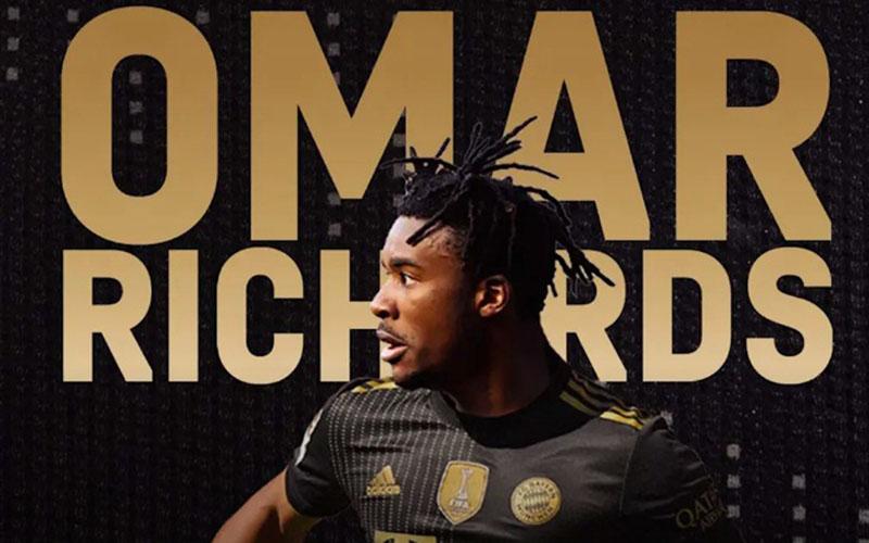 Bek baru Bayern Munchen Omar Richards. - FCBayern.com