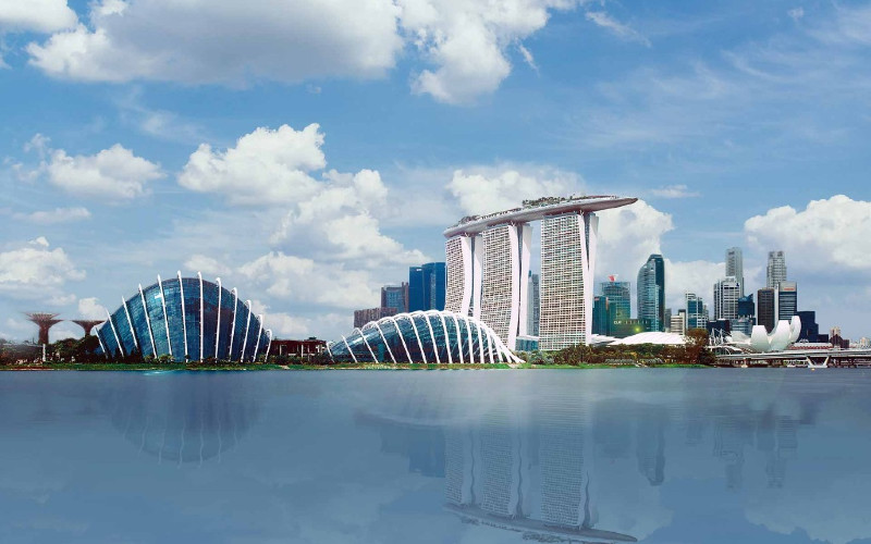 Deretan properti di Marina Bay Singapura. - stb.gov.sg