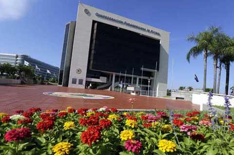 Kantor pusat Conmebol di Luque, Asuncion, Paraguay - Reuters