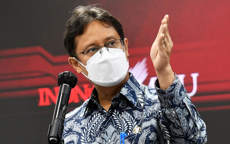Menkes Budi Gunadi Sadikin memberikan keterangan pers usai Rapat Terbatas, Senin (10/05/2021), di Jakarta - Humas Setkab - Rahmat