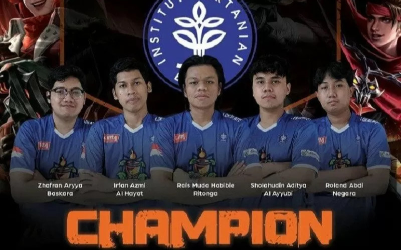 Di final, IPB bertemu dengan tim Universitas Dian Nuswantoro dan berhasil meraih juara setelah mencetak skor 3-0.  - ANTARA