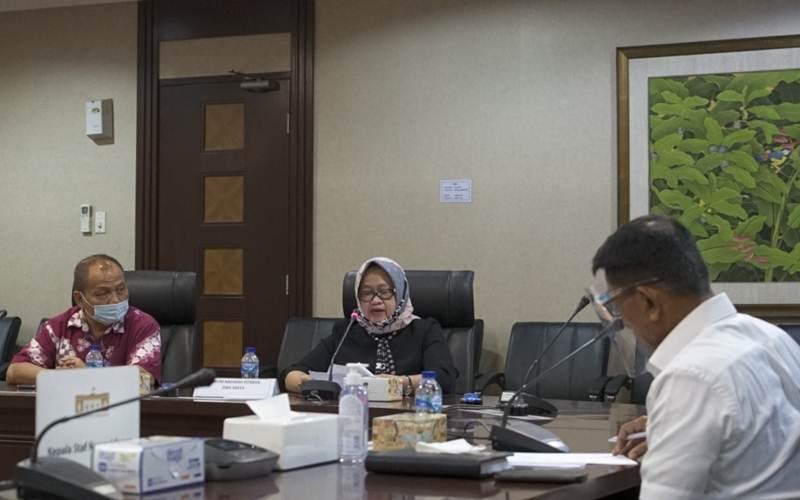 Kepala Staf Kepresidenan Moeldoko (saat) saat menerima audiensi dengan Forum Nasabah Korban Jiwasraya (FKNJ) di Gedung Bina Graha, Jakarta. - Istimewa/KSP