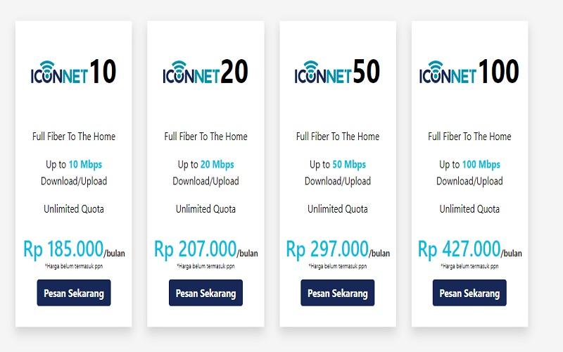 Biaya paket langganan internet PLN Iconnet 2021 - Iconnet.co.id