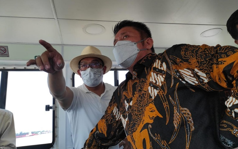 Gubernur Jawa Barat Ridwan Kamil dan Gubernur Sumatra Selatan Herman Deru - Istimewa
