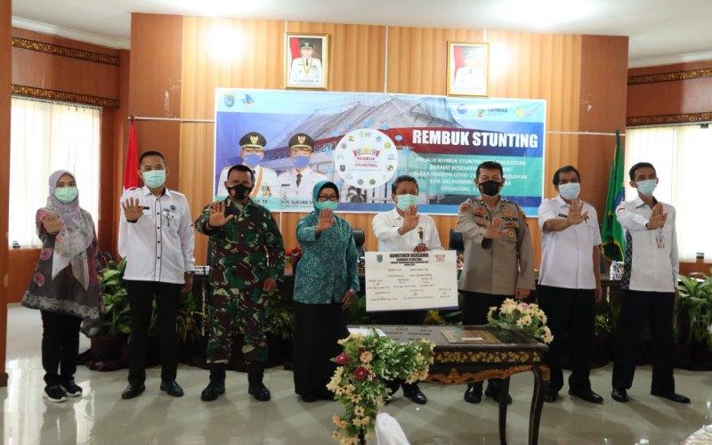 Rembuk stunting yang diselenggarakan oleh Pemerintah Kabupaten Ogan Komering Ilir (OKI), Sumatra Selatan.  - Istimewa