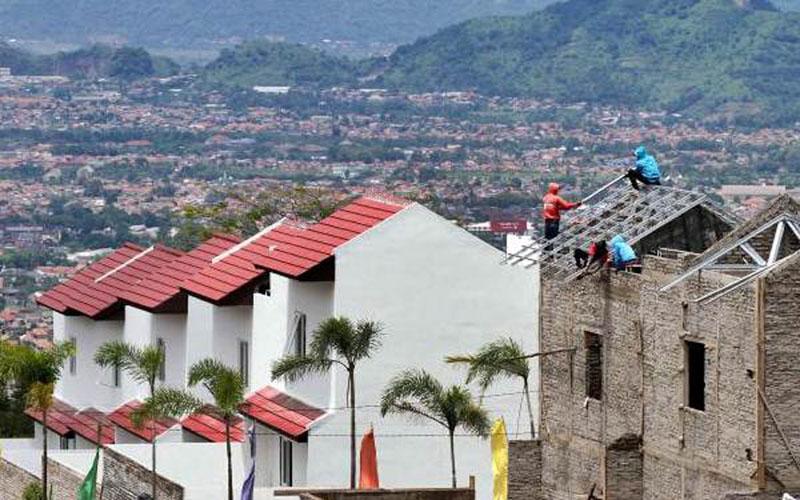 Ilustrasi pembangunan proyek perumahan./Bisnis.com - Rachman