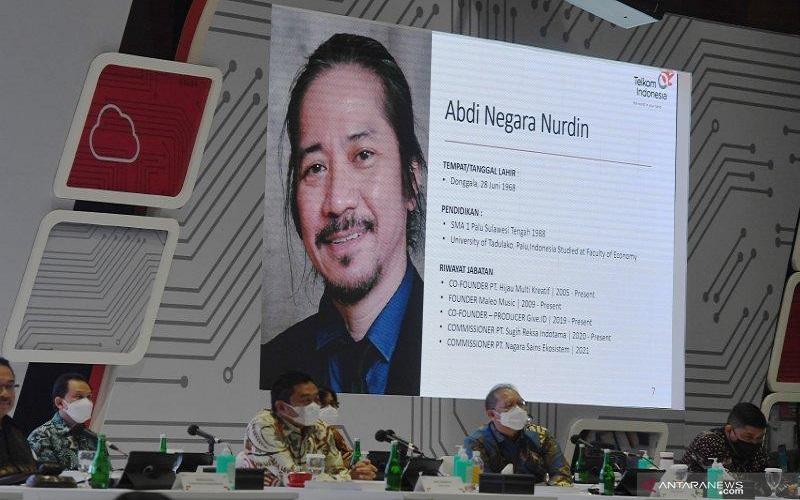 Musisi Abdee Slank diangkat menjadi komisaris PT Telkom Indonesia (Persero) Tbk.  - Antara