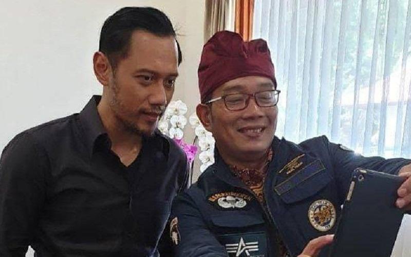 Ketua Umum Partai Demokrat Agus Harimurti Yudhoyono (AHY) dijadwalkan bertemu Gubernur Jawa Barat Ridwan Kamil di Gedung Pakuan, Bandung, Jumat (4/6 - 2021).