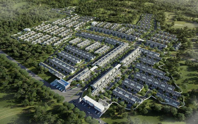 Gambar rencana pembangunan Grand Tenjo Residence yang akan dikembangkan PT Dwicitra Mekar Abadi dalam waktu dekat. - Istimewa
