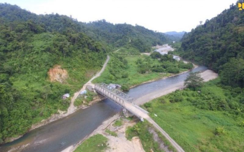Ilustrasi jalan perbatasan di Kalimantan Utara, yang totalnya sepanjang 992,35 kilometer. - Kementerian PUPR