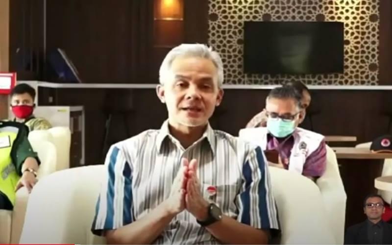 Gubernur Jawa Tengah Ganjar Pranowo. - Youtue@bnpb