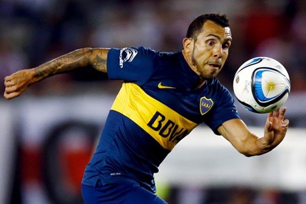 Carlos Tevez sebagai pemain Boca Juniors./Reuters - Marcos Brindicci
