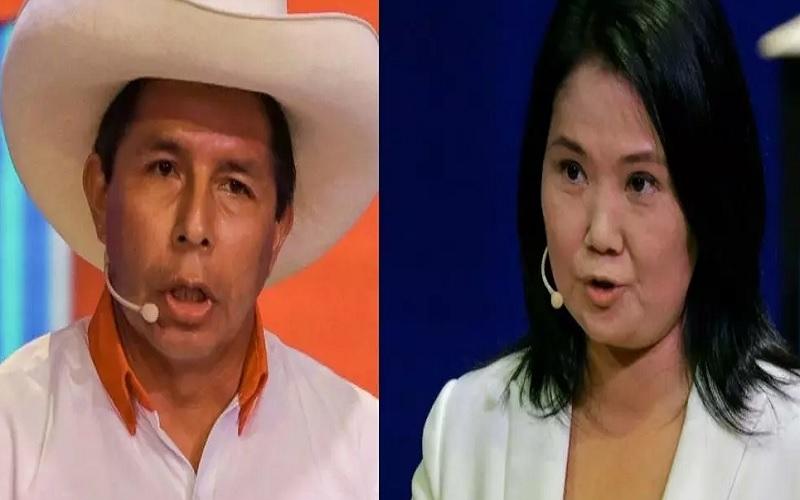 Pemilihan Presiden (Pilpres) Peru dimulai hari ini, Senin (7/6/2021), saat negara itu menghadapi pilihan polarisasi antara pemimpin populis sayap kanan Keiko Fujimori (kanan) dan pimpinan serikat guru sayap kiri Pedro Castillo (kiri). - Istimewa