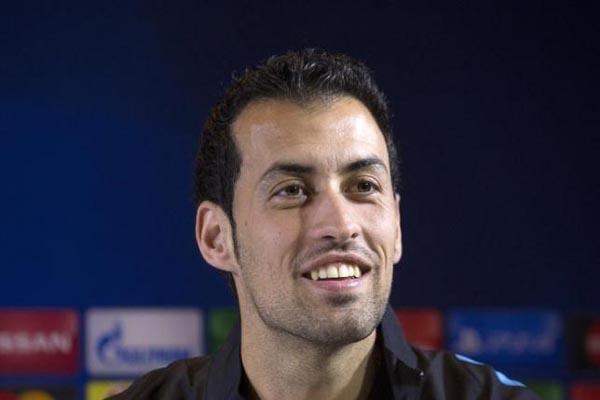 Pemain Barcelona dan Timnas Spanyol Sergio Busquets/Reuters - Vasily Fedosenko
