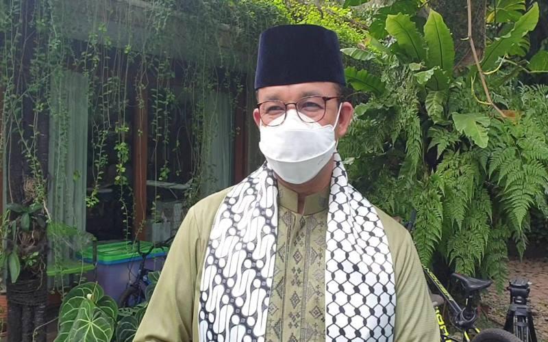 Gubernur DKI Jakarta Anies Baswedan memberi keterangan saat dijumpai Bisnis di kediamannya, Kawasan Lebak Bulus, Jakarta Selatan, Kamis (13/5/2021). JIBI - Bisnis/Nyoman Ary Wahyudi