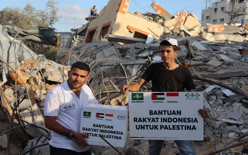 NU care serahkan bantuan ke Palestina