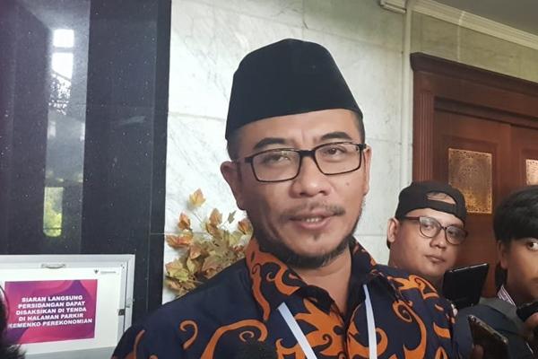 Komisioner KPU RI Hasyim Asy'ari menyampaikan keraguan terhadap saksi dari Tim Hukum Prabowo-Sandiaga, Kamis (20/6/2019)/JIBI - Bisnis/Hasyim Asy\'ari