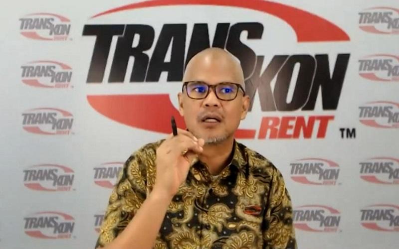 Direktur Utama PT Transkon Jaya Tbk Lexi R Rompas saat menjadi pembicara dalam Focus Group Discussion Kolaborasi Pemulihan Ekonomi Regional secara virtual, Selasa (8/6 - 2021).