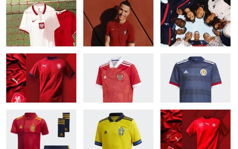Jersey tim peserta Euro 2020 - Antara
