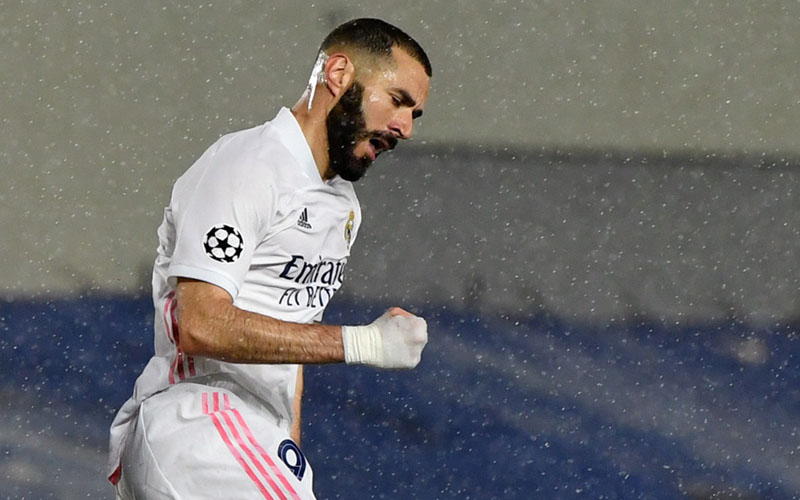Ujung tombak Real Madrid Karim Benzema. - Twitter@realmadriden