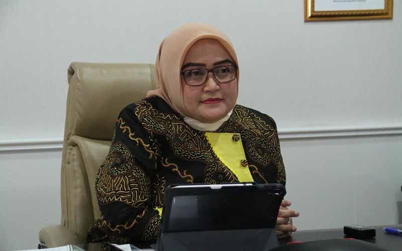Direktur Jenderal Pembinaan Hubungan Industrial Kementerian Ketenagakerjaan Indah Anggoro Putri.  - Kementerian Ketenagakerjaan