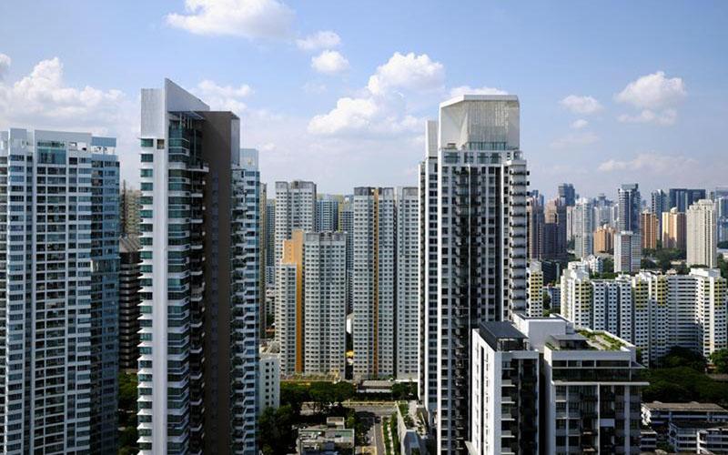 Apartemen dan properti komersial Singapura, foto file 27 September 2018. - Reuters