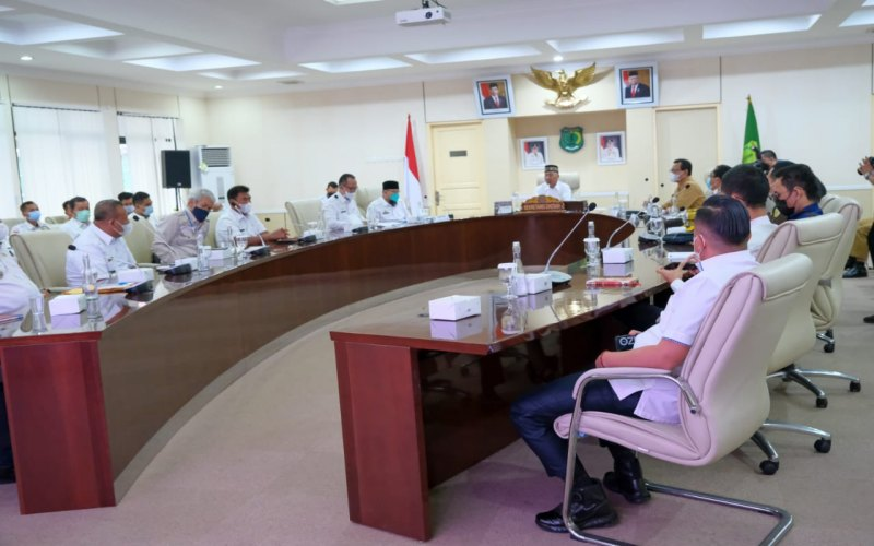 Pemerintah Kabupaten Musi Banyuasin menggelar rapat koordinasi terkait pengadaan lahan untuk proyek Tol Betung-Tempino-Jambi.  - Istimewa