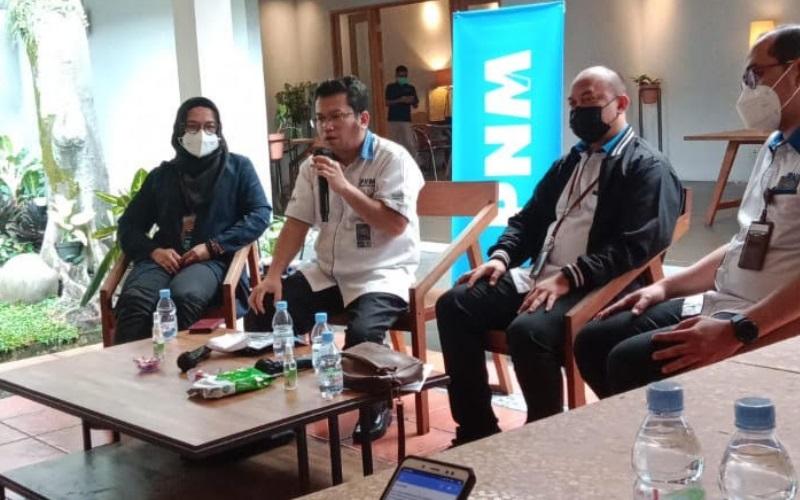 Diskusi PNM bersama media di Bandung hari ini - Bisnis/Wisnu Wage