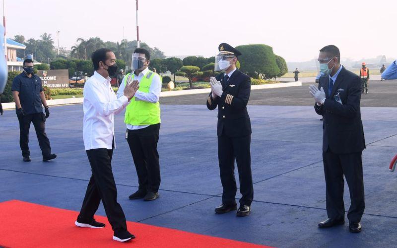 Presiden Jokowi bertolak ke Jateng dalam rangka kunjungan kerja, Jumat (11/06/2021) pagi - (Foto: BPMI Setpres - Lukas)