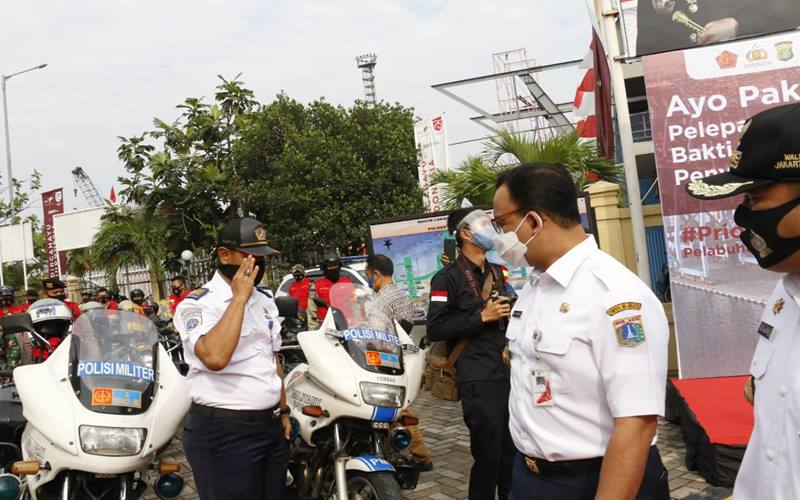 Gubernur Provinsi DKI Jakarta, Anies Baswedan menghadiri Deklarasi Program komitmen memakai masker bertajuk
