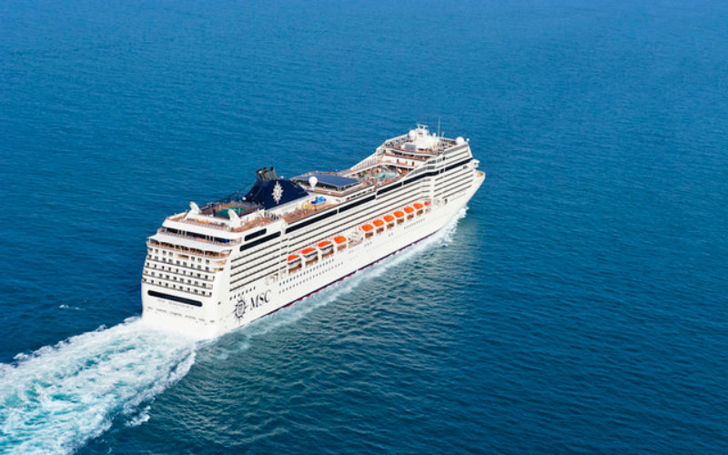 MSC Magnifica akan berlayar di Laut Merah dari Jeddah dalam beberapa perjalanan tujuh hari dari 13 November hingga 26 Maret.  - MSC Rights/Arabnews