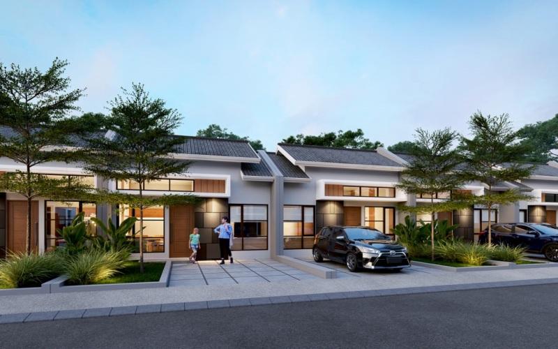 Gambar salah satu klaster perumahan yang dikembangkan di Harvest City di Cibubur. - Istimewa