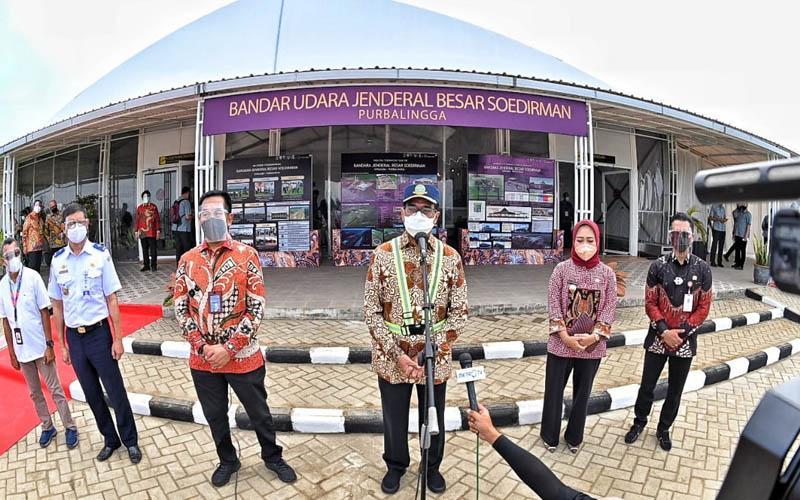 Menteri Perhubungan Budi Karya Sumadi saat di Bandara Jenderal Besar Soedirman. -  Dok. BKIP Kemenhub