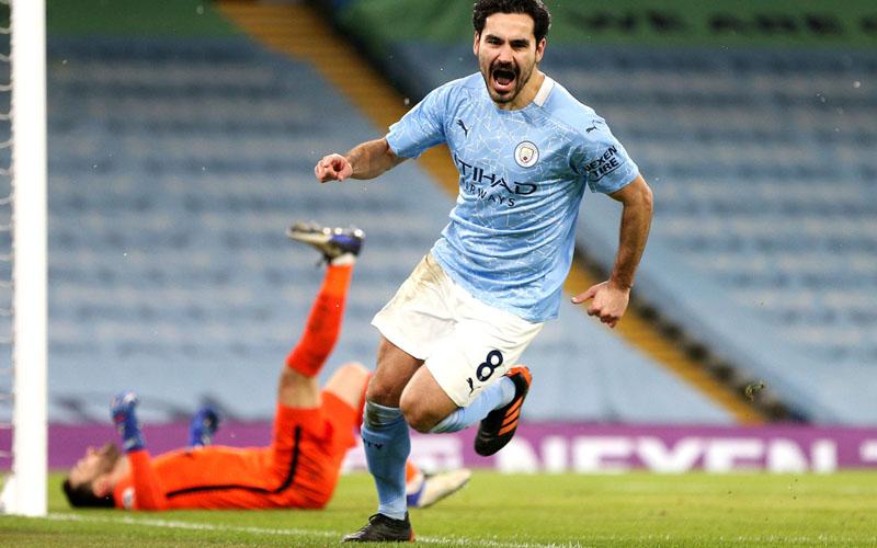 Gelandang Manchester City Ilkay Gundogan. - Twitter@Mancity