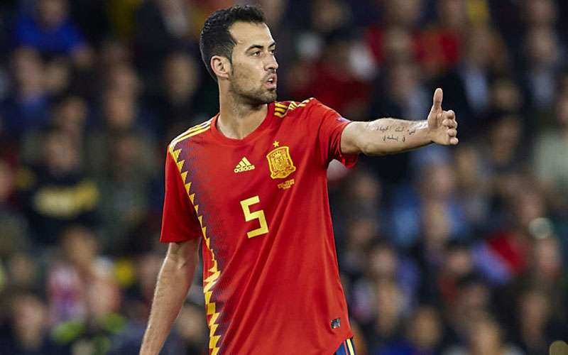 Kapten Timnas Spanyol Sergio Busquets termasuk yang positif Covid-19 menjelang Euro 2020. - 90min