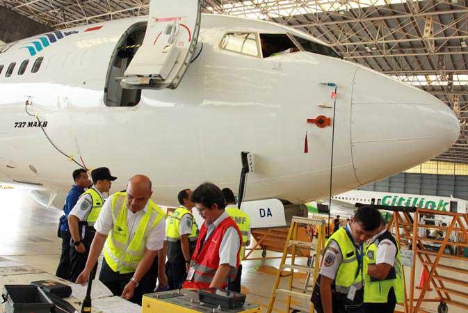 GMFI GMF AeroAsia (GMFI) Rawat Pesawat BIFA di Hanggar Bali - Ekonomi Bisnis.com
