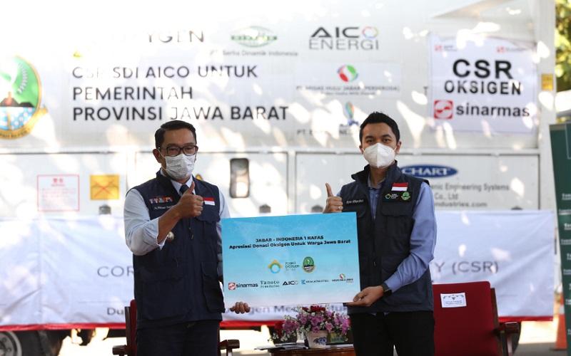 Gubenur Jabar Ridwan Kamil bersama Direktur Utama MUJ ONWJ Ryan Alfian Noor
