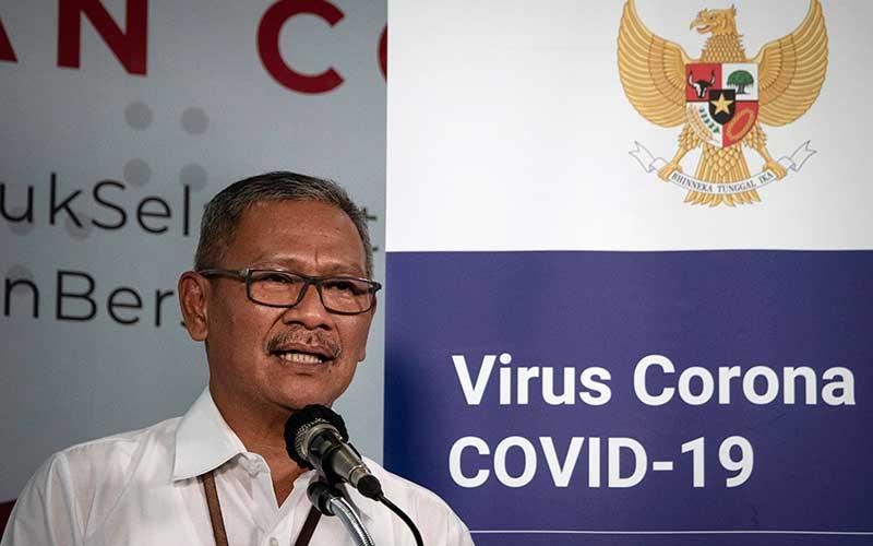 Juru Bicara Pemerintah untuk Penanganan COVID-19 Achmad Yurianto menyampaikan keterangan pers di Graha BNPB, Jakarta, Kamis (26/3/2020). Berdasarkan data hingga Kamis (26/3/2020) pukul 12.00, jumlah kasus positif COVID-19 mencapai 893 orang di 27 provinsi se-Indonesia, dengan jumlah pasien sembuh mencapai 35 orang dan kasus meninggal dunia mencapai 78 orang. ANTARA FOTO/Dhemas Reviyanto