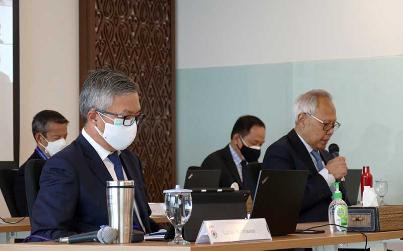 Komisaris Utama PT Austindo Nusantara Jaya Tbk (ANJ) Adrianto Machribie Reksohadiprodjo membuka Rapat Umum Pemegang Saham Tahunan dan Rapat Umum Pemegang Saham Luar Biasa mengenai laporan keuangan dan kinerja tahun 2020, di Jakarta, Rabu (9/6/2021). Pada RUPST dan RUPSLB yang dilanjutkan dengan Paparan Publik Tahunan ini, Lucas Kurniawan, menyampaikan kinerja keuangan ANJ pada yang kuartal pertama 2021 mengalami peningkatan jika dibandingkan dengan kuartal pertama 2020. Pendapatan bersih meningkat dari US$36,8 juta pada kuartal pertama 2020 menjadi US$58,7 juta pada kuartal pertama 2021. ANJ mencatat laba bersih meningkat sebesar US$3,1 juta pada kuartal pertama 2021 dibandingkan rugi bersih pada kuartal pertama 2020 sebesar US$1,2 juta. Bisnis