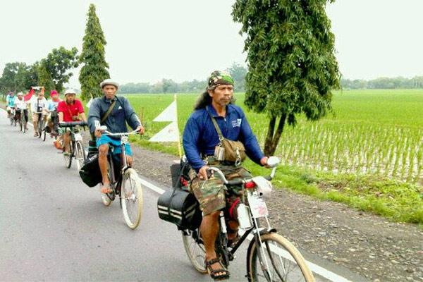 Dia mengatakan penggunaan sepeda sebagai alat transportasi bisa menurunkan polusi udara sekaligus menyehatkan badan.  - bisnis.com