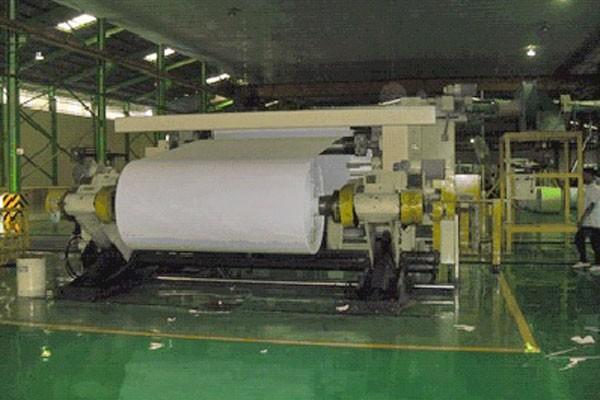 Ilustrasi aktivitas di pabrik kertas.  -