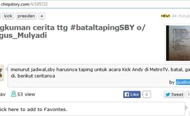 SBY Batal Taping Kick Andy Show: Siapa Menteri Yang Lobi Agar Rekaman Tak Dibatalkan