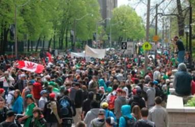 Di Kanada, Ribuan Orang Demonstrasi Tuntut Legalitas Ganja