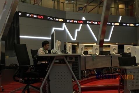 Ilustrasi perdagangan di BEI. IHSG Melemah 0,57% siang ini - Bisnis