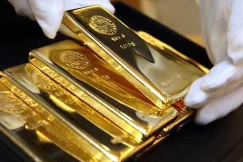 Emas batangan. Harga tergerus penguatan dolar AS - Bisnis