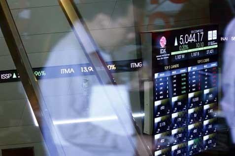 Ilustrasi Indeks BEI. IHSG Sesi I Turun 0,09% - Bisnis