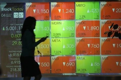Dari 494 saham yang diperdagangkan sebanyak 117 saham bergerak negatif.  - bisnis.com