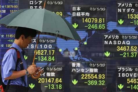 Monitor Bursa Jepang. Indeks Nikkei ditutup