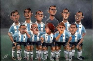 SERBA SERBI PIALA DUNIA 2014: Para Kartunis Olah Bola Secara Jenaka
